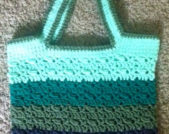Green Ombre Wrapped Tote
