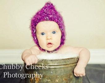 Fuzzy Chinstrap Pixie Hat