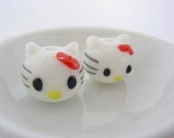 Hello Kitty Glass Bead #983R