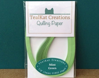 Mint Green Quilling Paper