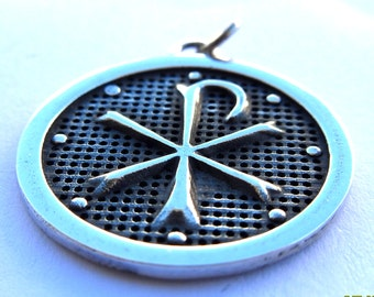 CHI-RHO Bishop Cleric Pendant Sterling Silver 925
