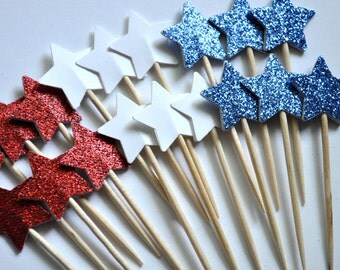Fourth of July Star Toppers