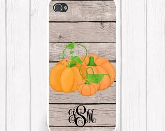 Pumpkins Monogram Wood Fall Phone Case Halloween Phone Case Halloween iPhone 6/6S, iPhone 5/5S, iPhone SE, Samsung iPhone7 iPhone 7