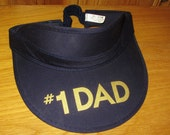 Number One #1 DAD Father's Day Original American Greetings Promo Sun Visor Elasticized Hat Vintage 90s Golfing Gift Cap