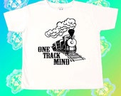 One Track Mind Boys T-Shirt, Boys Tee, Cute Children's Clothes, Funny Kids T-Shirts, Toddler T-Shirt, Kids Train T-Shirt, Boys Train T-Shirt