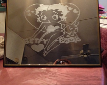 Etched mirror of Betty Boop