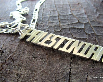 Palestinian sterling silver Necklace ( heavy necklace )