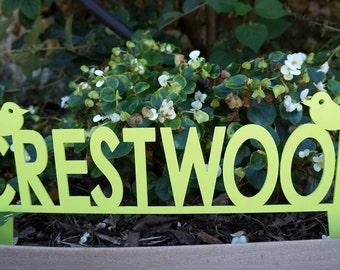 Crestwood Garden Marker
