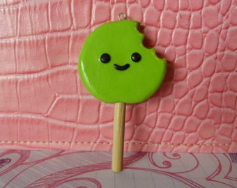 Green Bitten Lollipop
