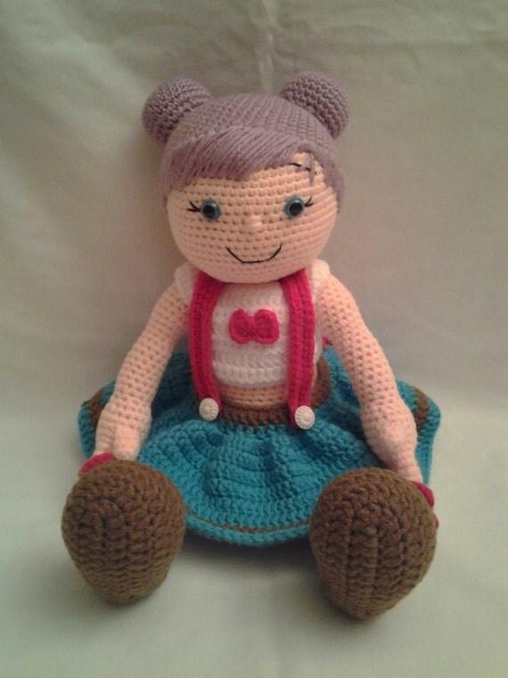Amigurumi Doll Hair Bun : PIPER Crochet Amigurumi Doll Crochet Doll with by ...