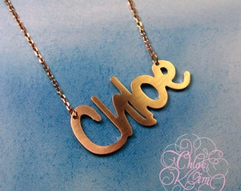Personalized Name Necklace / Handmade / Silver Name Necklace / 925 Sterling Silver /  Any Name /14K White ,Yellow, Rose Gold Plated Necklace
