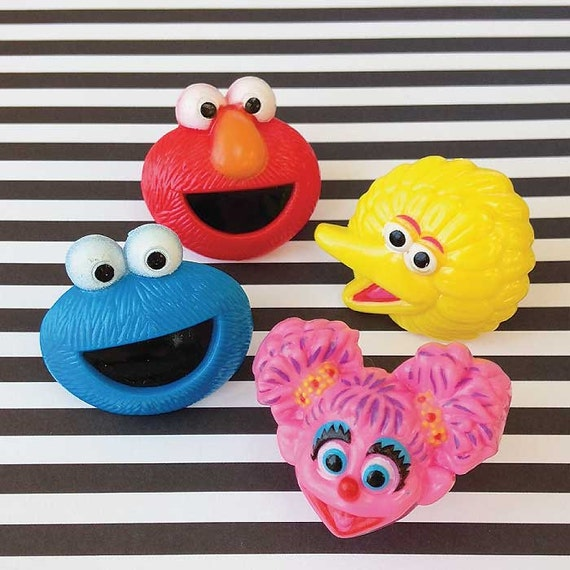 Sesame Street Cupcake Faces 12 Sesame Street Puffy Faces