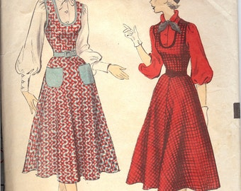 Advance 5919 1950's Ladies Blouse and Jumper Sewing Pattern ID494