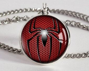 Handmade Spiderman Pendant Necklace