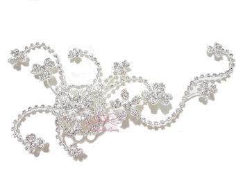 Bridal Comb, Crystal Flower Handmade Hair Comb, Rhinestone Wedding Hair Comb, Bridal Comb- HC0006