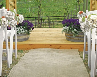 Wedding Aisle Runner - Burlap Wedding Runner - Burlap Wedding Aisle Runner - Church Aisle Runner - Beach Aisle Runner - 1m x 10m
