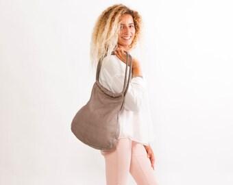 Sale!!! GREY Leather Handbag, Medium Leather handbag by Limor Galili