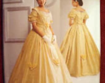Out Of Print Simplicity 2881 2 Piece Ball Gown Pattern NEW Victorian Civil War Hoop Dress