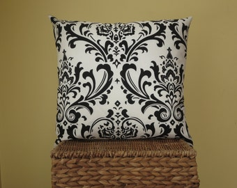 Pillow cover,16x16  black, purple, blue and coral, throw pillow cover
