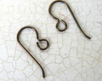 Earring Wire Upgrade to Brown Niobium Earring Wires, Hypoallergenic Niobium Dark Copper Wires