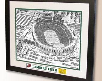 Lambeau Field Art, home of the Green Bay Packers