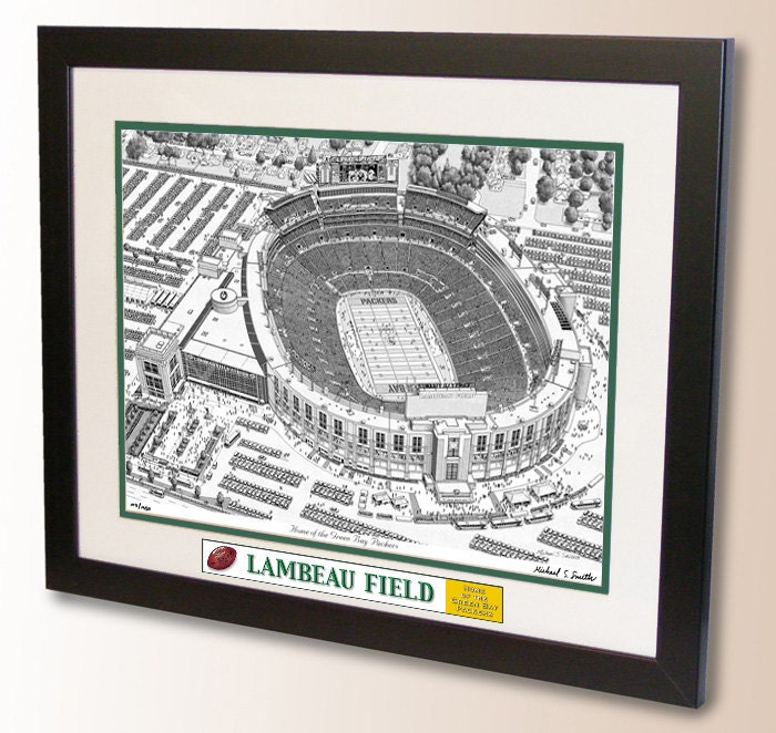 Lambeau Field Art Home Of The Green Bay Packers
