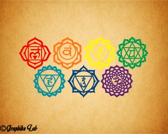 Chakra 7 Decal Set Path to Enlightenment Chakra 7 Decal Detail Set Vinyl Decal