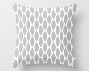 Gray Pillow Cover, Ikat Pillow, Velvet Cushion, Guest Bedroom Decor, Teen Girl Room Decor, Girls Pillow, Dorm, Housewarming, 18x18, 22x22