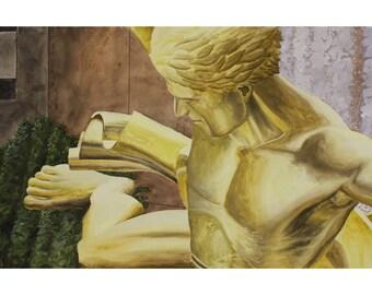 Prometheus Statue, New York City Art Print