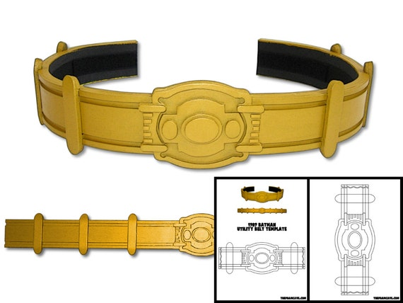 Template For 1989 Keaton Batman Utility Belt From