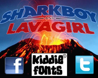 SHARKBOY and LAVAGIRL Commercial Font