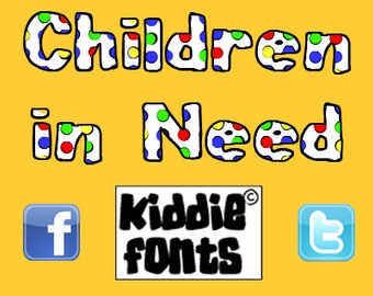 Children in Need Commercial Font