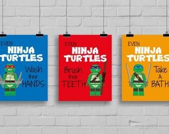 Popular Items For Ninja Turtle Pop Art On Etsy