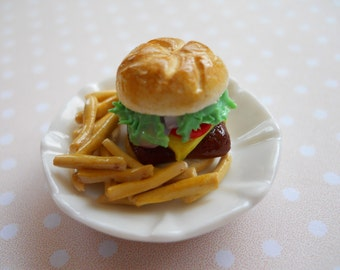 Miniature Cheese Burger with Fries