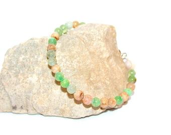 Agate stones bracelet
