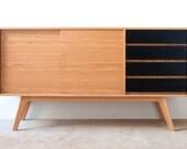 J150 Sideboard - Classic sideboard in Oak | Entertainmnet Media unit Vintage Industrial Art Cabinet. Buffet wood Danish Retro, Mid century