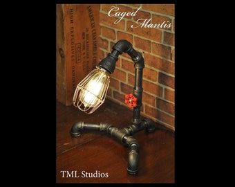 Industrial Plumbing Pipe Edison Light Fixture Desk Lamp - Steampunk
