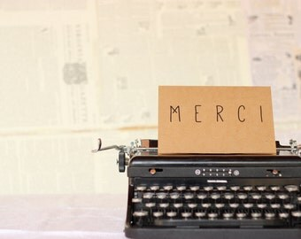 Merci : LBC Kraft Paper Thank-You Card