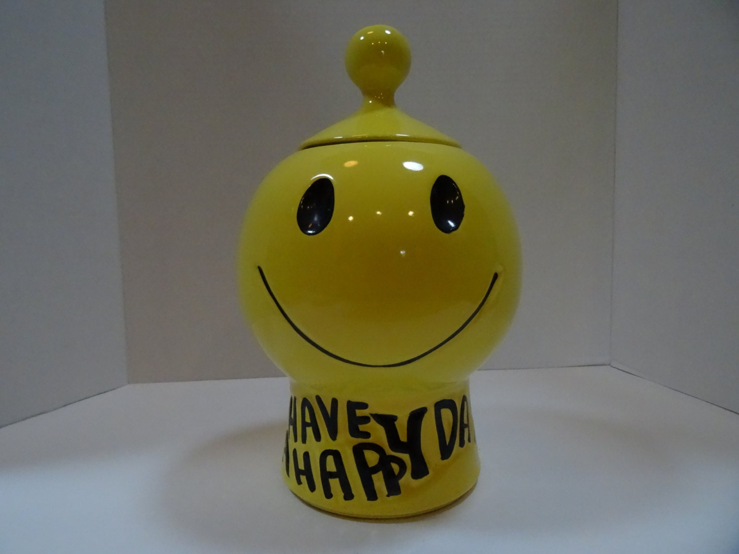 Sale McCoy Have A Happy Day Cookie Jar by IowaPrairieLiving