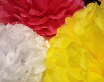 Set of 12 Tissue Paper Pom Pom Tissue Paper Flowers Tissue Pom Pom Paper Pom Paper Decorations Wedding Decoration Pompom Wedding Decorations