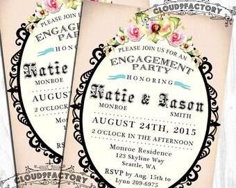 Engagement Party Invitation Romantic Garden