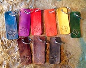 Hand tooled Texas leather key chain