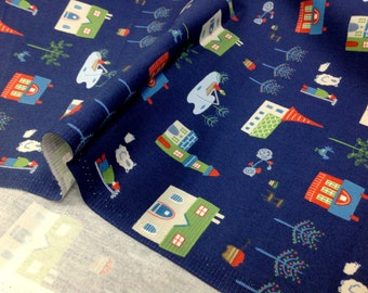 Japanese Fabric D's Selection Daiwabo - Tip Top Rooms Collection by Fumika Oishi - Half meter
