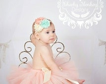 Peach Tutu ~ Baby Infant Toddler Girl Tutu ~ Childrens Tutu ~ Baby Shower Gift ~ Smash Cake Outfit