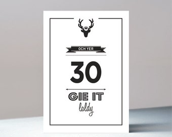 Och yer 30 - Scottish birthday greetings card
