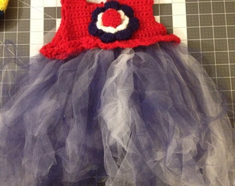 4th of July Tulle Baby Dress