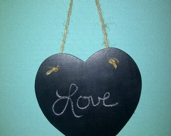 Heart chalkboard sign 5x5