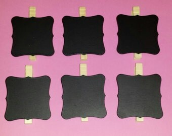 chalkboard clothespins- Set of 6