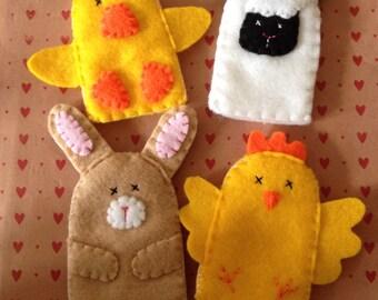 Spring finger puppet set