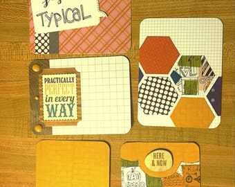 Handmade journaling cards for project life or other pocket scrapbooking